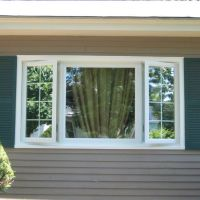 Newpro Picture window with side Casement windows. Shown ...