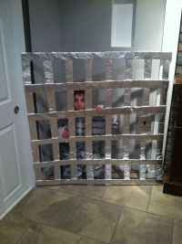 Home made jail cell n prisoner outfit for Trick or Trunk ...