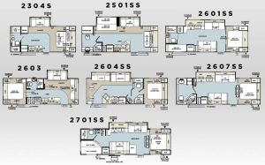 Forest River Rockwood Ultra lite travel trailer floorplans
