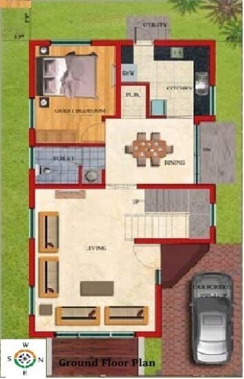 Duplex Floor Plans Indian House Design Map