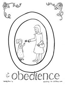 For the letter O, our readers chose the theme obedience