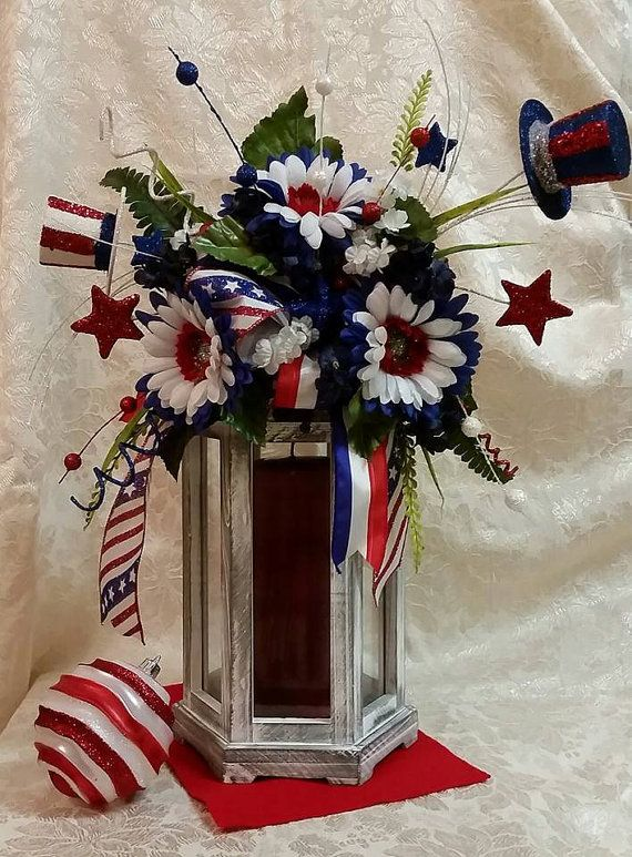 Shipping For Courtney Fields Patriotic Lantern Swag Beautiful Centerpieces And Lantern