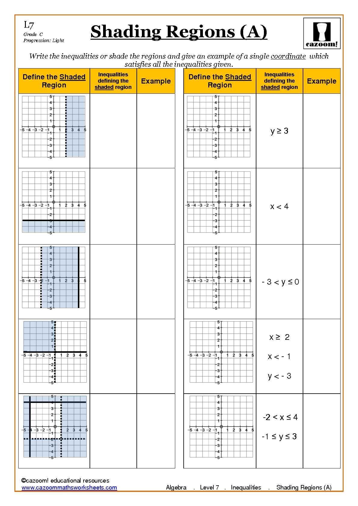 Ks4 Maths Worksheets Algebra