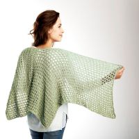 Free knitting pattern for super easy lace shawl Net ...