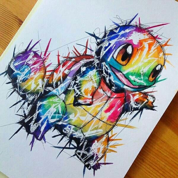 Squirtle  Art I think is dope   Pinterest  Pokmon