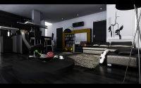 Modern Living Room Dark ebony hardwood floors | For the ...