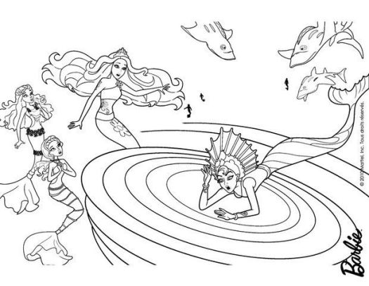 Barbie Mermaid Tale Printable Coloring Pages