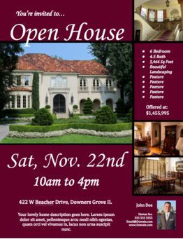 realtor open house flyers