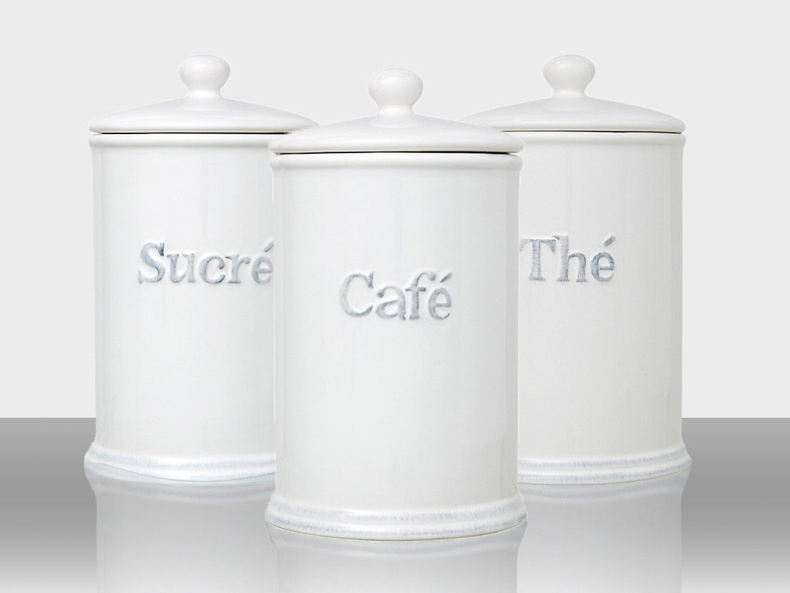 kitchen storage canisters ceiling light fixtures handy white ceramic jars with lid and rubber seal