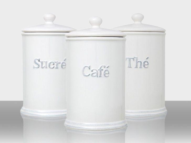 Handy White Ceramic Kitchen Jars Lid Rubber Seal Air