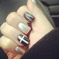 Hipster Nails. Tan. Cross. Black. White. | Nails ...