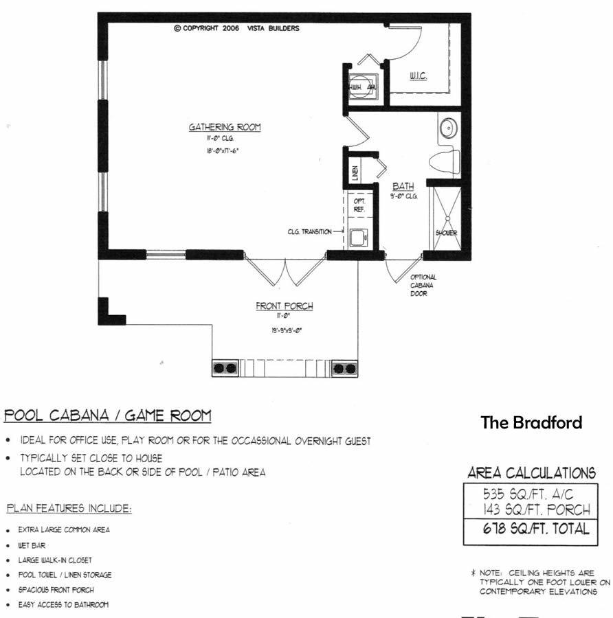 Bradford Pool House Floor Plan