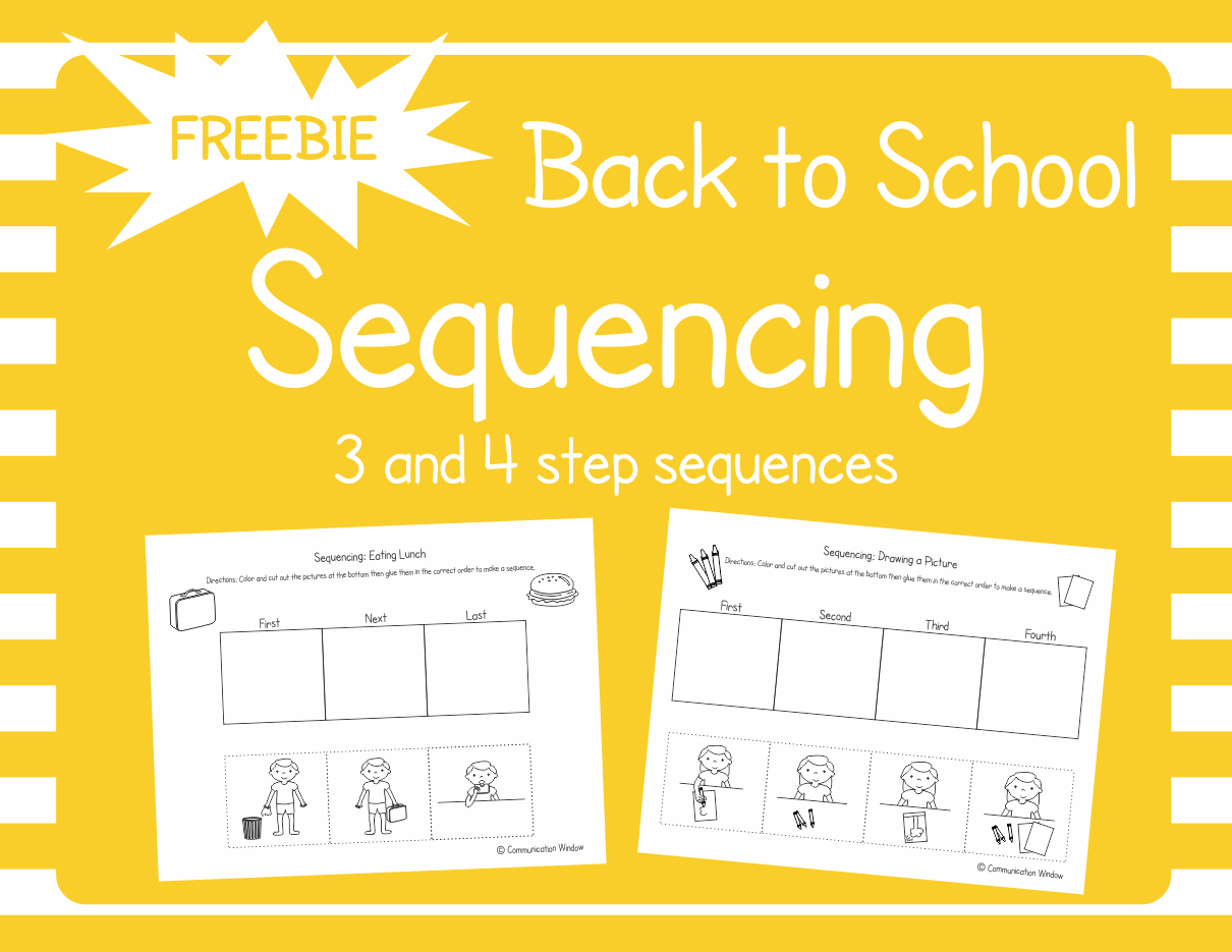 These Free Back To School Sequencing Cut And Glue