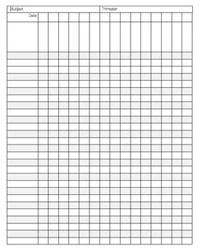 This versatile data collection sheet is perfect for