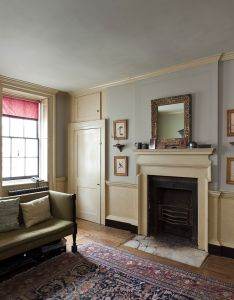 Beautiful period house in east london available for photoshoots and filming with wood paneling neutral colours cool furniture  nice roof terrace also st option locations image three  interior rh pinterest