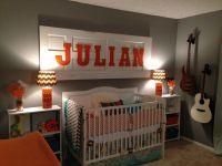 music theme/orange/teal/grey/white nursery | Julian's ...