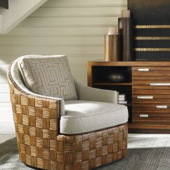 Swivel Rocking Chairs For Living Room Hawaiian Inspired Decorating Tommy Bahama Chair With Woven Rattan Parquet Design ...