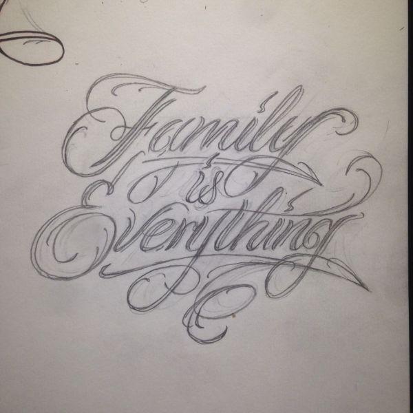 custom script tattoo
