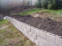 retaining wall ideas | Cheap(er) retaining wall idea ...