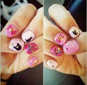 sailor moon nails cute