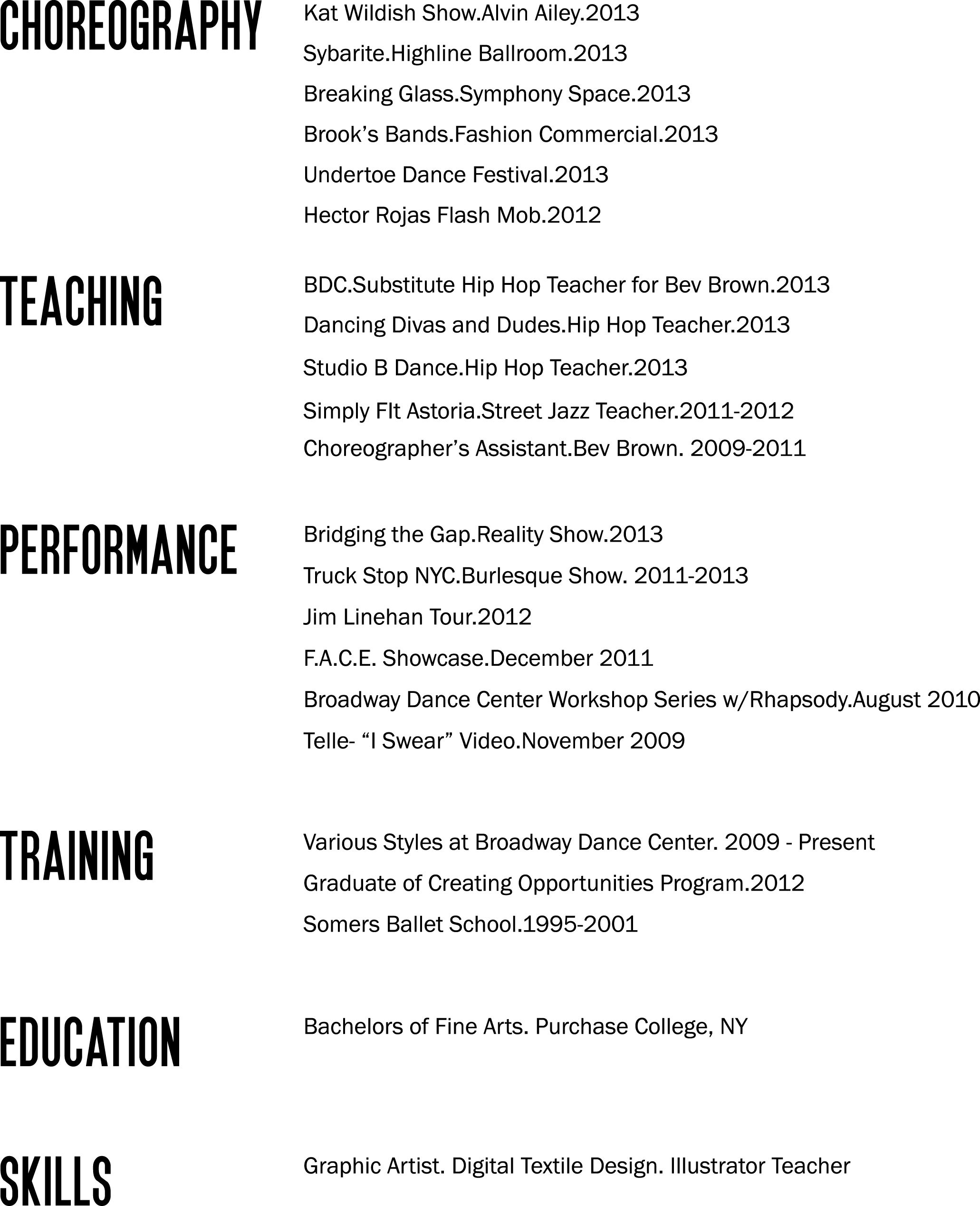 Good Qualifications To Put On A Resume Bad Layout But Good Reminder Of What To Put On A Dance