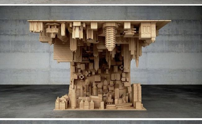 Inception Coffee Table Defies Gravity And Suspends