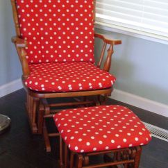 Slipcover For Rocking Chair Glider White Folding Covers Red And Polka Dot Cushions Baby 39s Room Ideas