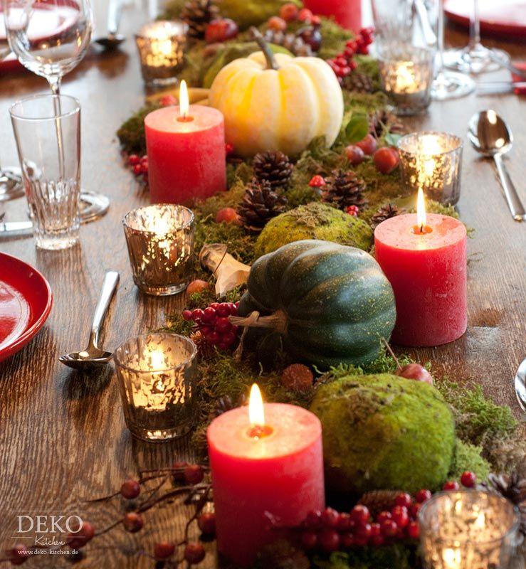 Dekoidee Hbsche Tischdeko mit Herbstlandschaft  Deko  Pinterest  Herbstlandschaft