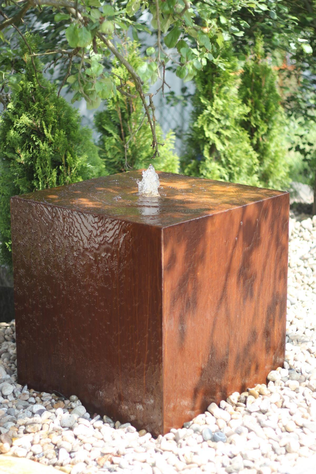 Wasserspiel Im Modernen Edelrost Design Zierbrunnen Made In