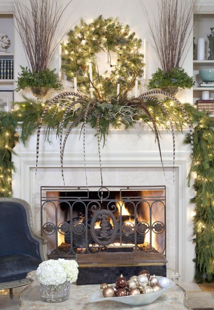 How to Decorate a Fireplace Mantle  Fireplace  Pinterest