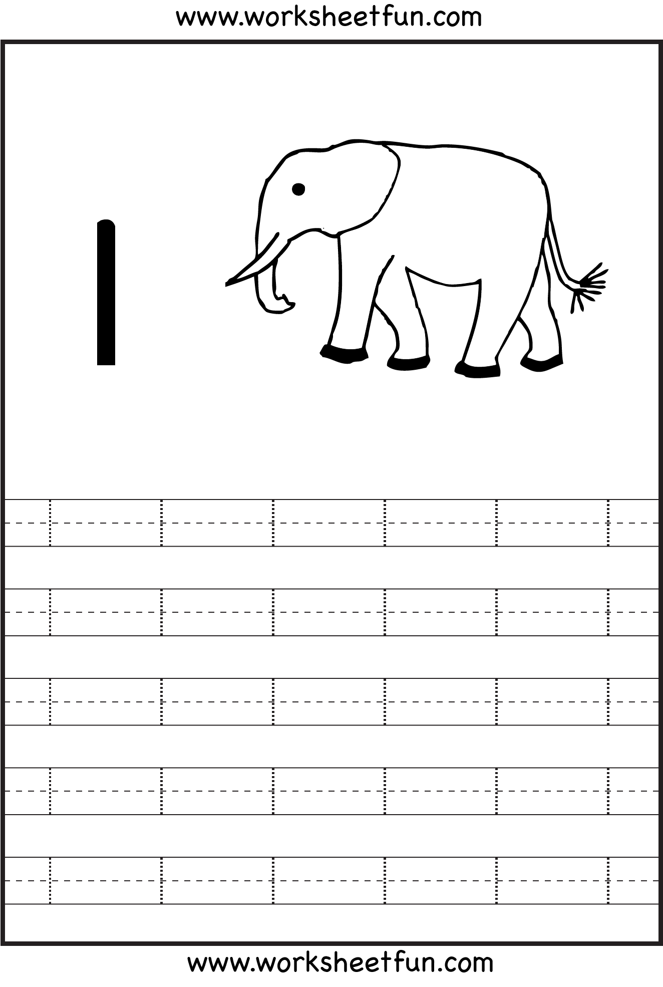 Number 1 Tracing Worksheets Preschool
