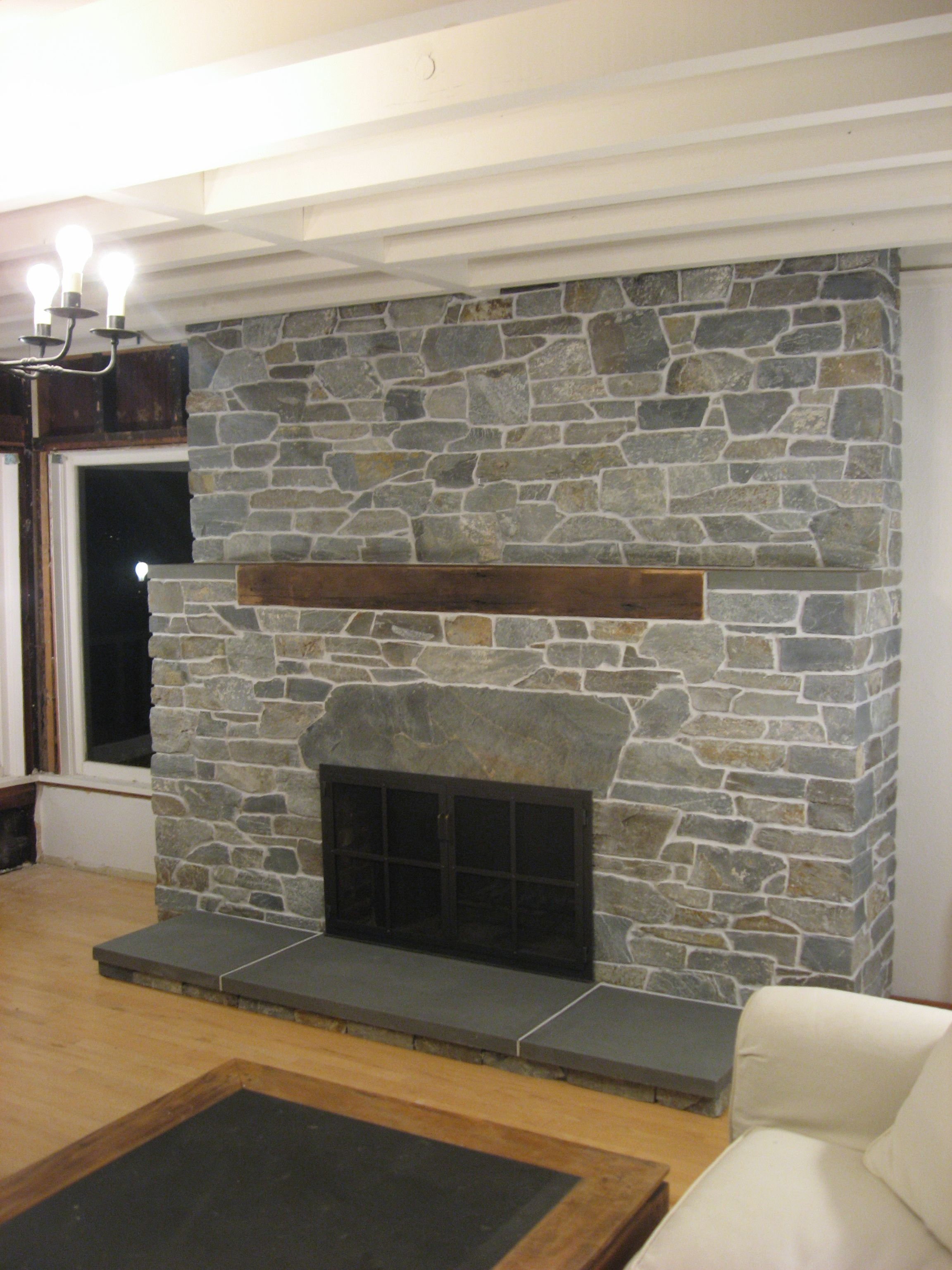 Best Fireplace Stone Veneer Design Ideas
