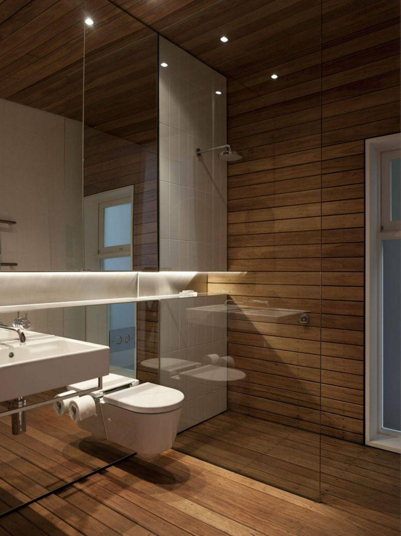 Badezimmer Wand und Fuboden aus Holz  bad  Pinterest