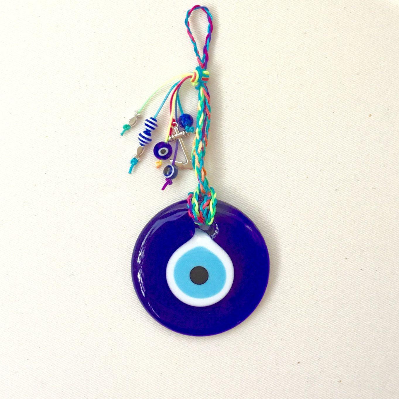 Round Evil Eye Charm Good Luck Charm Evil Eyes Nazar Talisman