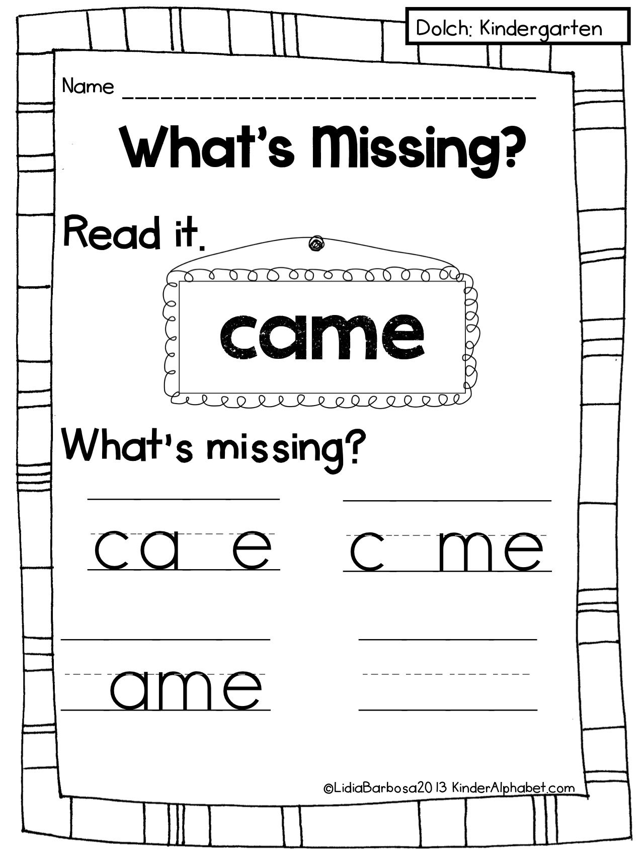 Sight Word Activities To Improve Visual Memory I Want To Change It Around For Spelling Words