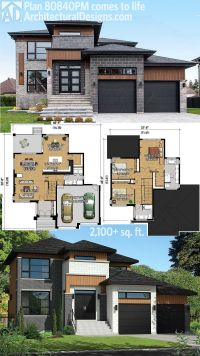 Plan 80840PM: Multi-Level Modern House Plan | Modern house ...