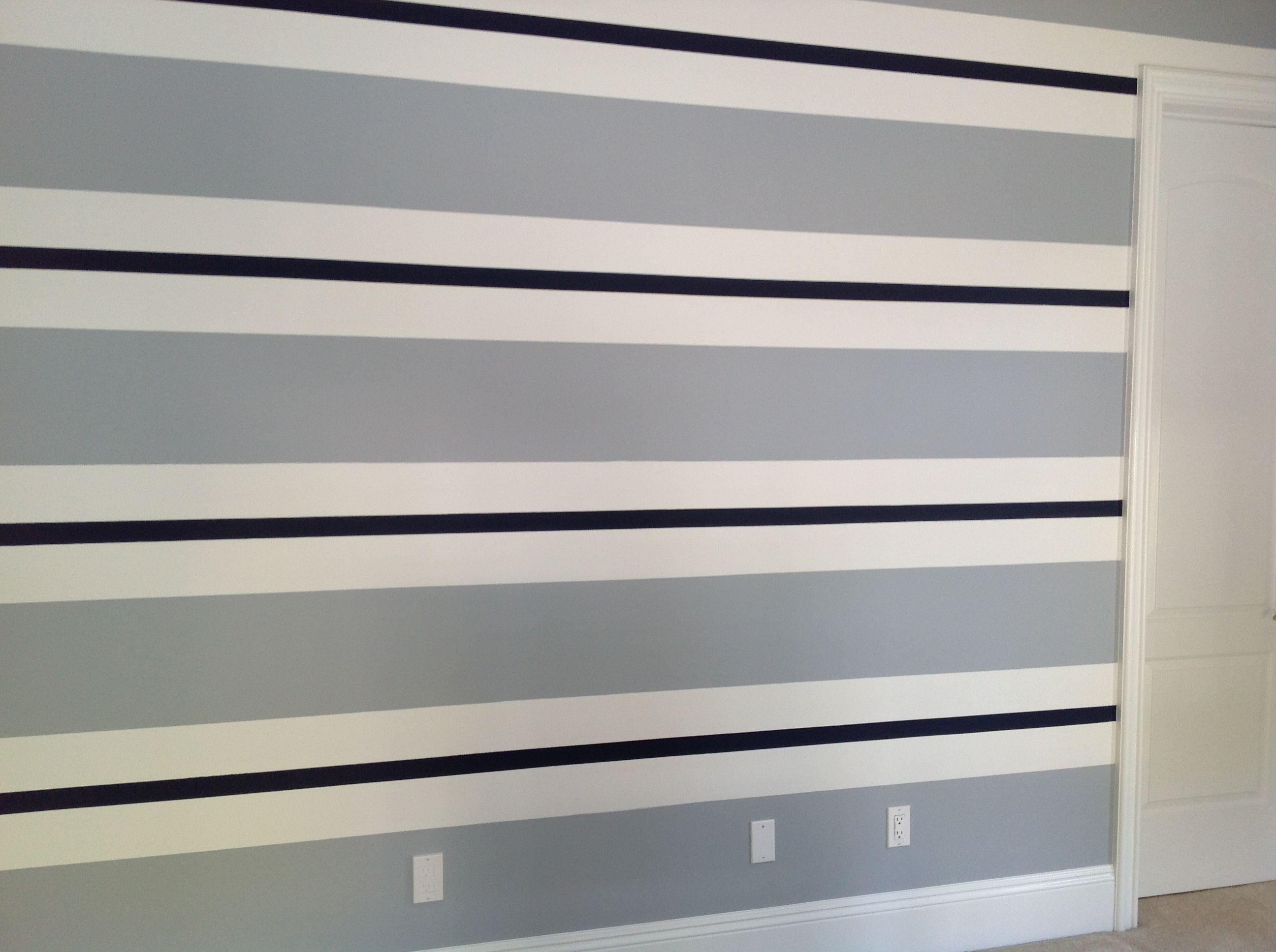 Horizontal Paint Stripe Ideas