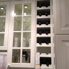 Built In Wine Rack Kitchen Cabinets Single Bowl Stainless Sink From Ikea For The Home Pinterest