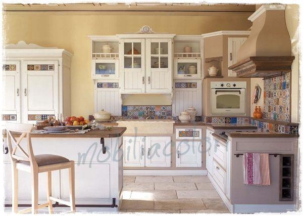 Cucine muratura decapate stile provenzale su misura  Cucine che amerai  Pinterest  Kitchen