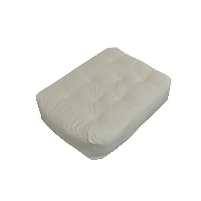 9 Moonlight 21x28 Chair Ottoman Natural Futon Mattress Polyester Blend Foam