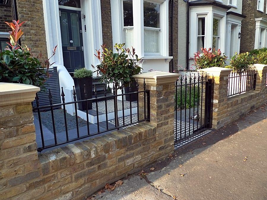 Fulham Brick Walls And Metal Rails & Gates Landscape Garden