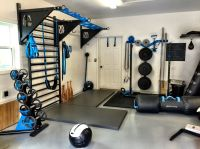 MoveStrong garage set up! DynaBells, pullup bracket system ...