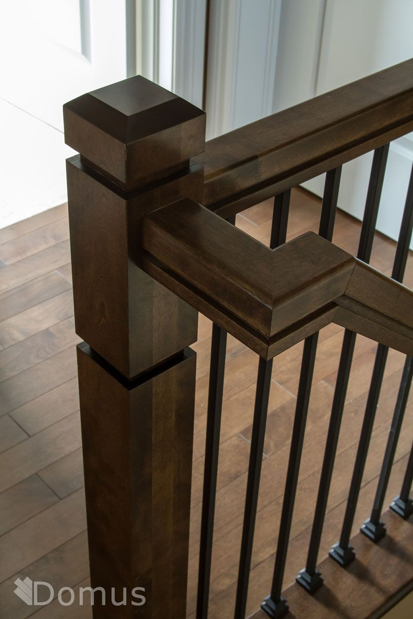 Modern Staircase With Square Zen Posts Black Metal | Black Metal Spindles For Staircase