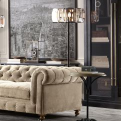 Brown Leather Sofa Color Restoration Modern Bed Art Deco And American Industrial Style In Harmony