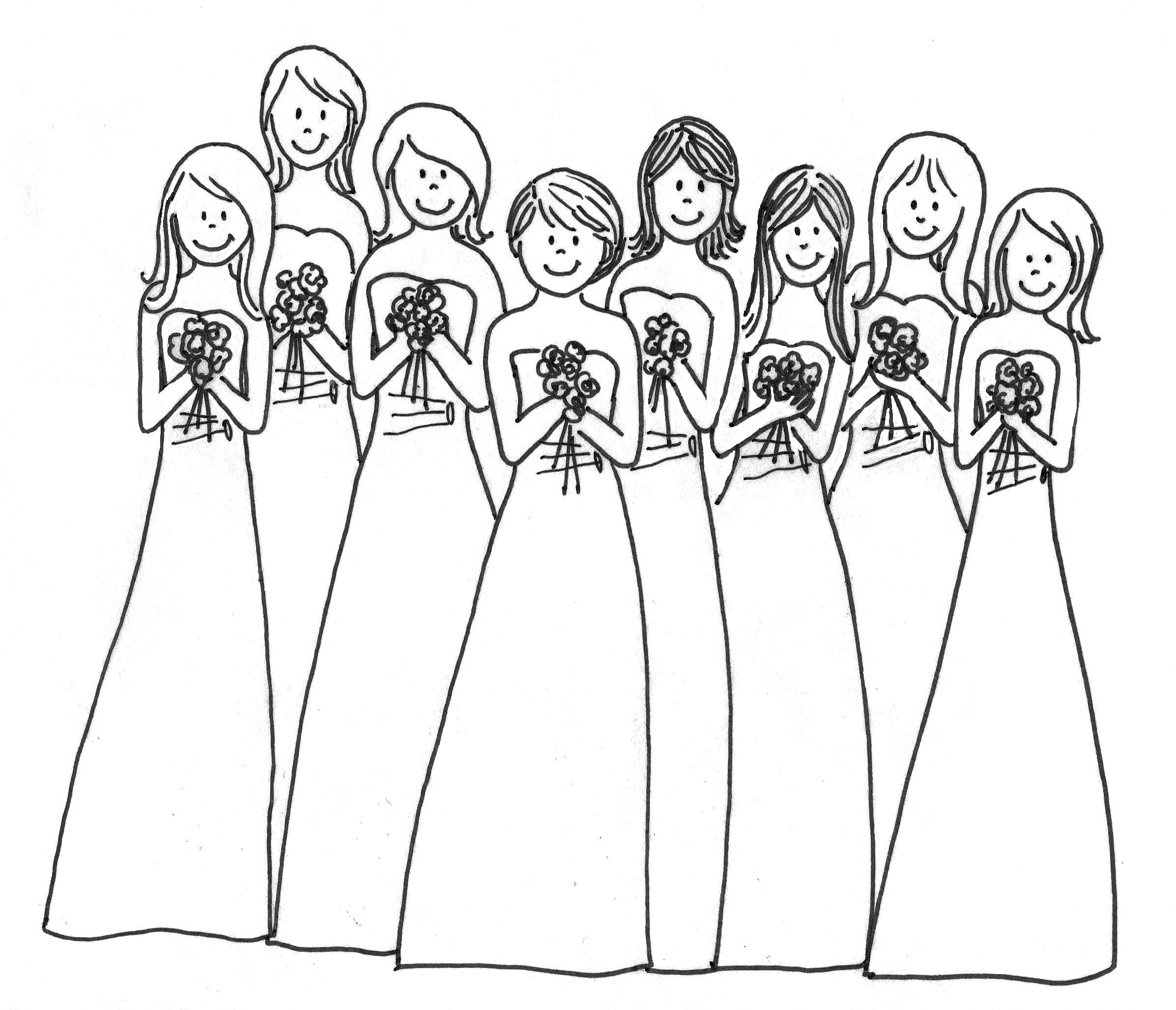 Wedding Coloring Book  coloring page of weddings  Coloring Pages  Activities  Pinterest