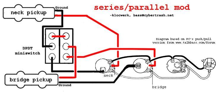 Series Parallel Wiring Diagram! Bass Guitar Pinterest Bass