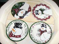 snowman dinner plates | Christmas Ideas | Pinterest | Best ...