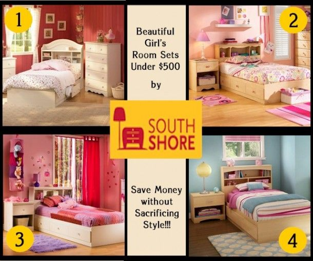 beautiful girl's bedroom sets by @south shore furniture under $500