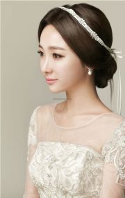 bridal hairstyle korean fade