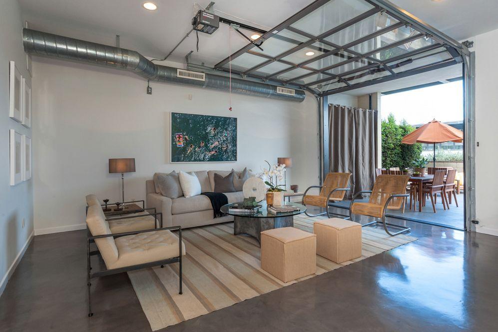 Garage Door Living Room